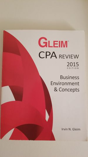 Gleim CPA Review Business Environment & Concepts 2015 Edition, Irvin N. Gleim for Sale in Arlington, VA