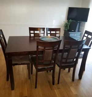 Brand New 7 Piece Wood Dining Set for Sale in Washington, DC