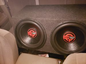 Photo 15 inch subwoofer and jbl amplifier