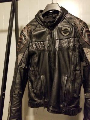 Harley Davidson Motorcycle Jacket. BLACK LEATHER SIZE M for Sale in Silver Spring, MD