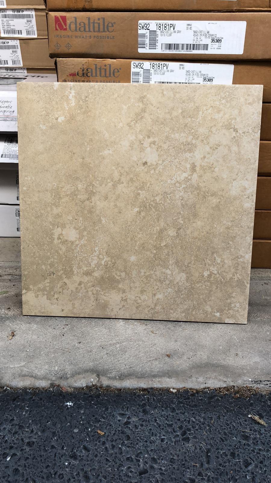 Floors ceramic 18x18
