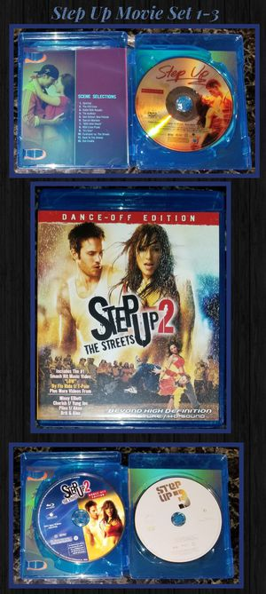 Step Up Movie DVD Blu ray Collection 1-3 Set for Sale in Chula Vista, CA