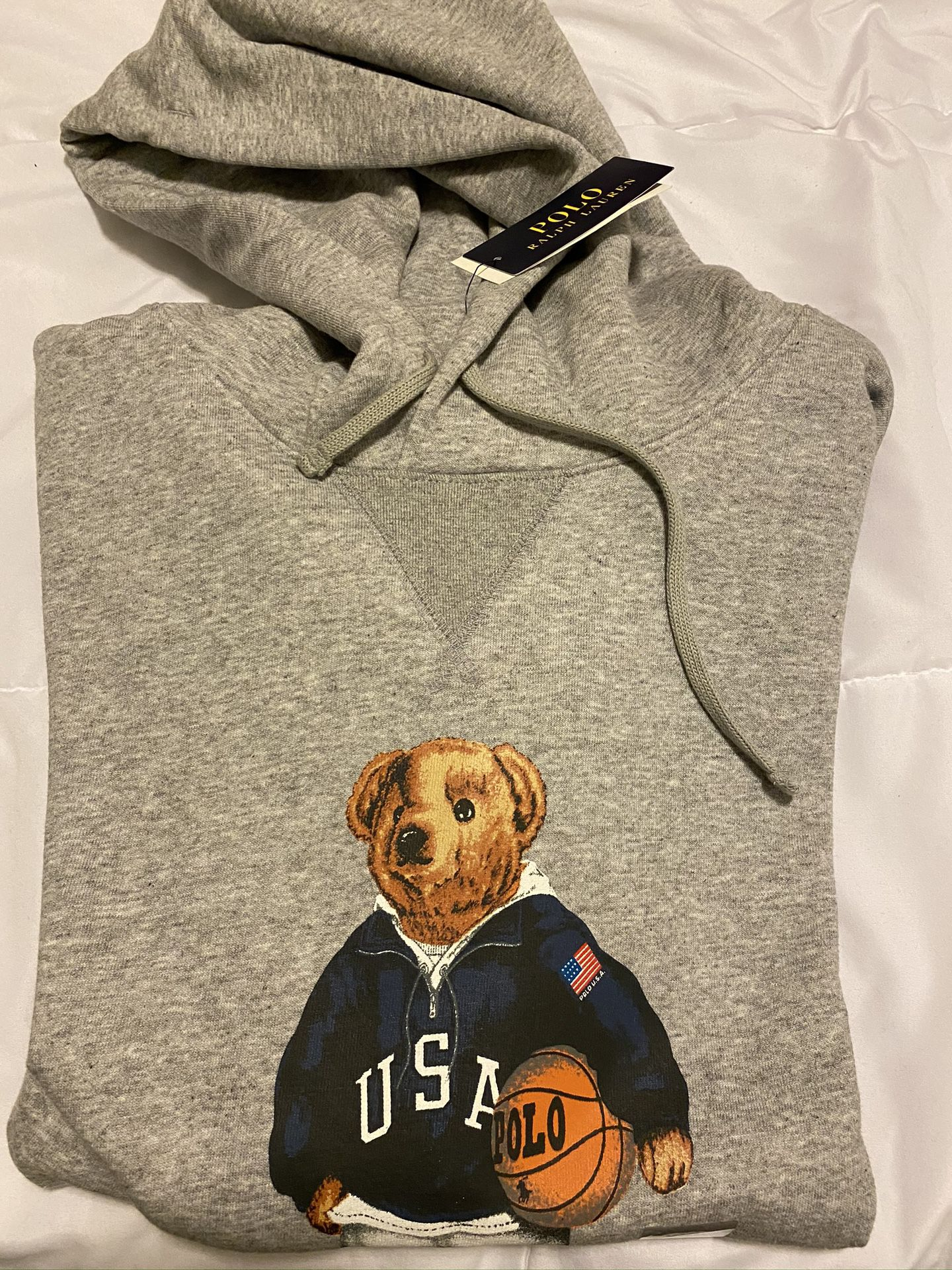 POLO BEAR HOODY NEW WITH TAGS $95