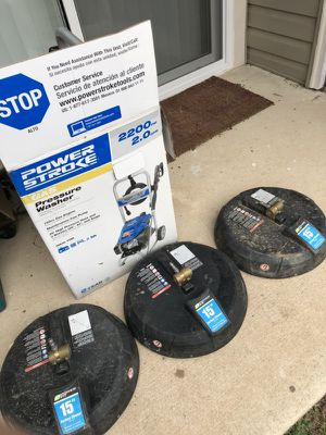 Pressure washer + Professional attachments and hoses for Sale in Odenton, MD