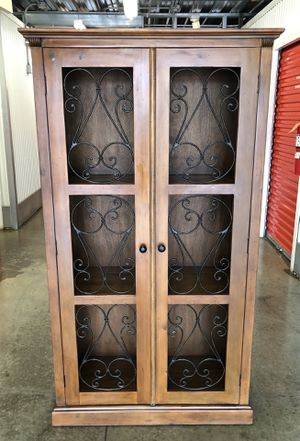 Beautiful Pier 1 Tall cabinet $285 for Sale in Gaithersburg, MD