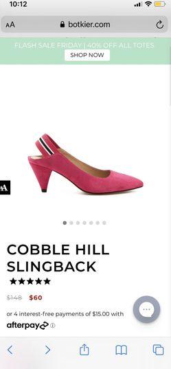 Pink slingbacks Heels Suede 6.5 Thumbnail