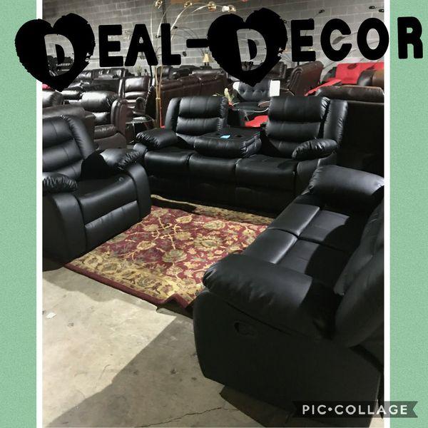 Reclining Leather 3 Piece Sofa Set For Sale In Birmingham Al Offerup
