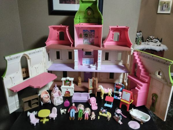 Fisher Price Loving Family Dollhouse Doll House Lot For Sale In