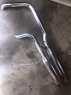 Photo 2000 & Up Harley Davidson Chrome Softail Deuce FXSTD Exhaust System 65094-00 / 65890-00