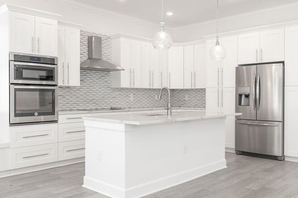 White Shaker Kitchen Cabinets Frameless For Sale In