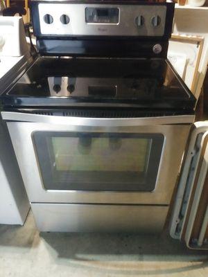 whirlpool range flat top stove stainless steel for Sale in Crewe, VA