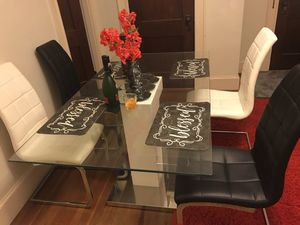 White and Black Custum Dinner Table for Sale in Salem, MA