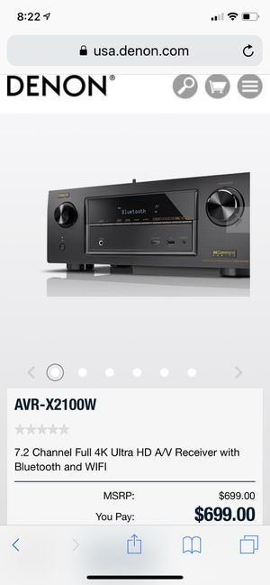 Denon AVR-X2100W High End Stereo Receiver for Sale in San Diego, CA