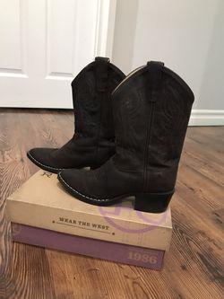 Cowboy boots girls size 10 kids Thumbnail