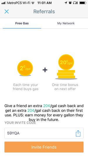 20 CENT OFF GAS!!! Just download app and apply code for Sale in Washington, DC