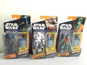 ($10 for All (New) Star Wars Saga Legends Figures/ Toys Lot, (Jango Fett, Spacetrooper & Greedo,) Hasbro ©️2010 for Sale in Phoenix, AZ