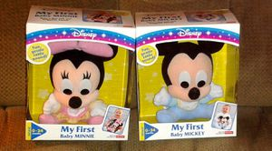 Disney My First Baby Mickey and Minnie Mouse Plush Dolls NIB for Sale in Silver Spring, MD