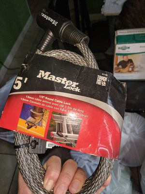 Master Lock with cable for Sale in Aspen Hill, MD