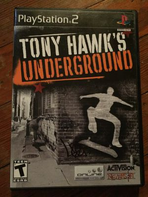 Tony Hawk's underground ps2 for Sale in Houston, TX