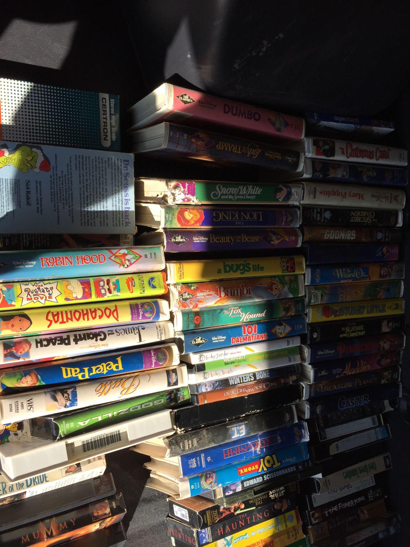Disney vhs tapes