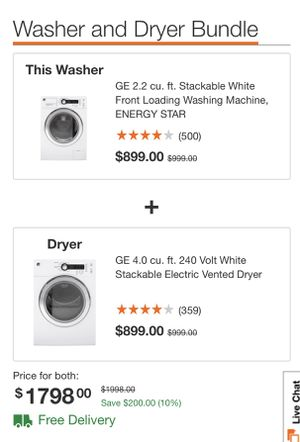 GE washer and Dryer Bundle for Sale in Germantown, MD