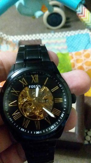 blue faced fossil watch silver bracelet for sale in san marcos tx