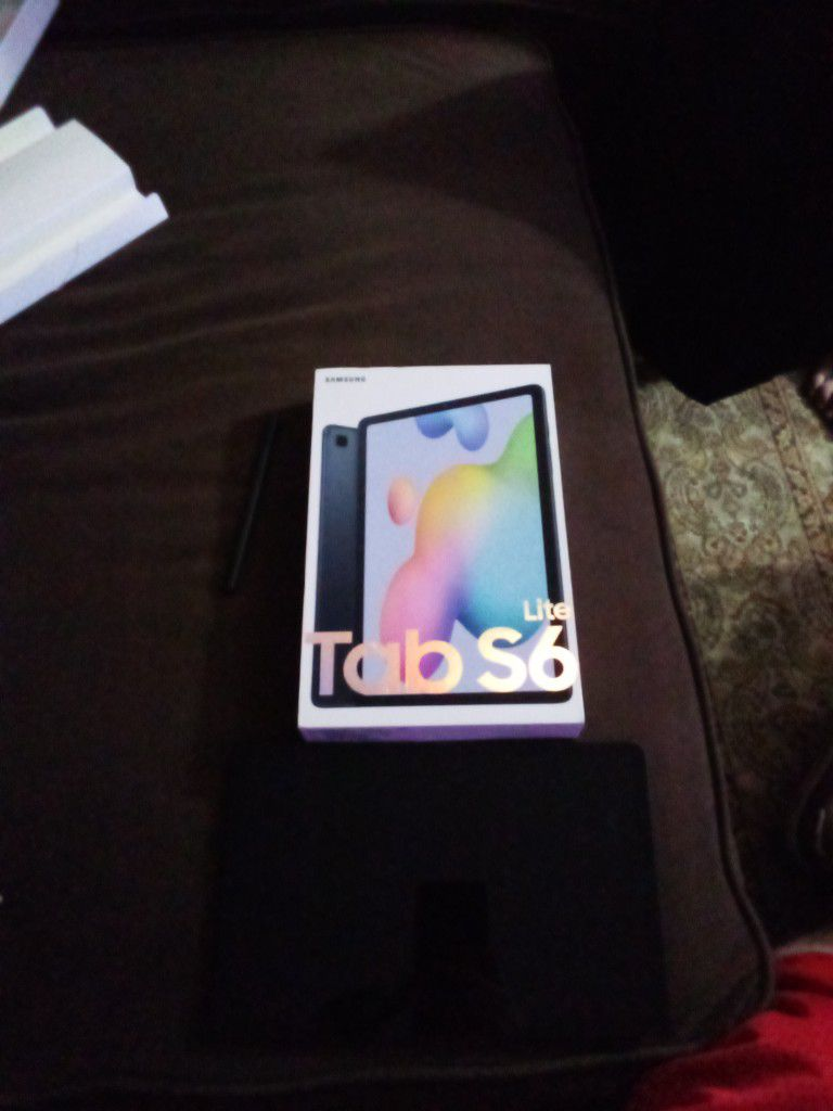 Brand New Samsung Lite Tab S6. Only opened For Pictures