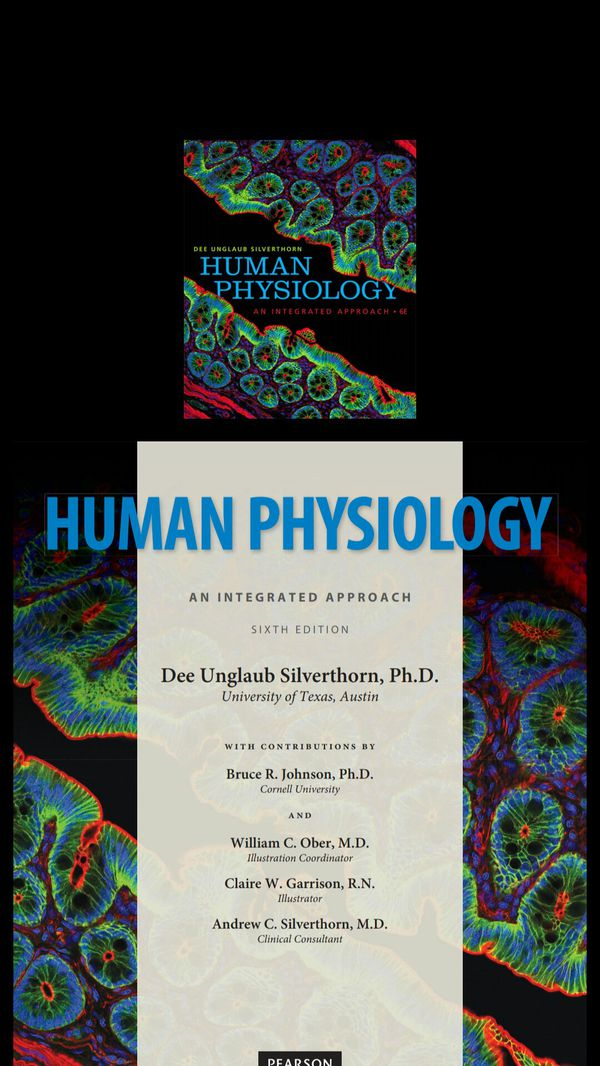 Human physiology an integrated Approach  Silverthorn 6th edition  PDF only!  for Sale in Hawthorne, CA - OfferUp