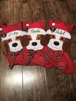 Personalized Christmas stockings for your pet for Sale in Magnolia, TX