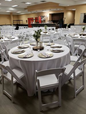 Wedding Table Decor - 14 Tables - Silverware included for Sale in Ashburn, VA