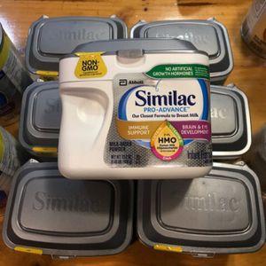Photo 7 tubs of similac pro advanced