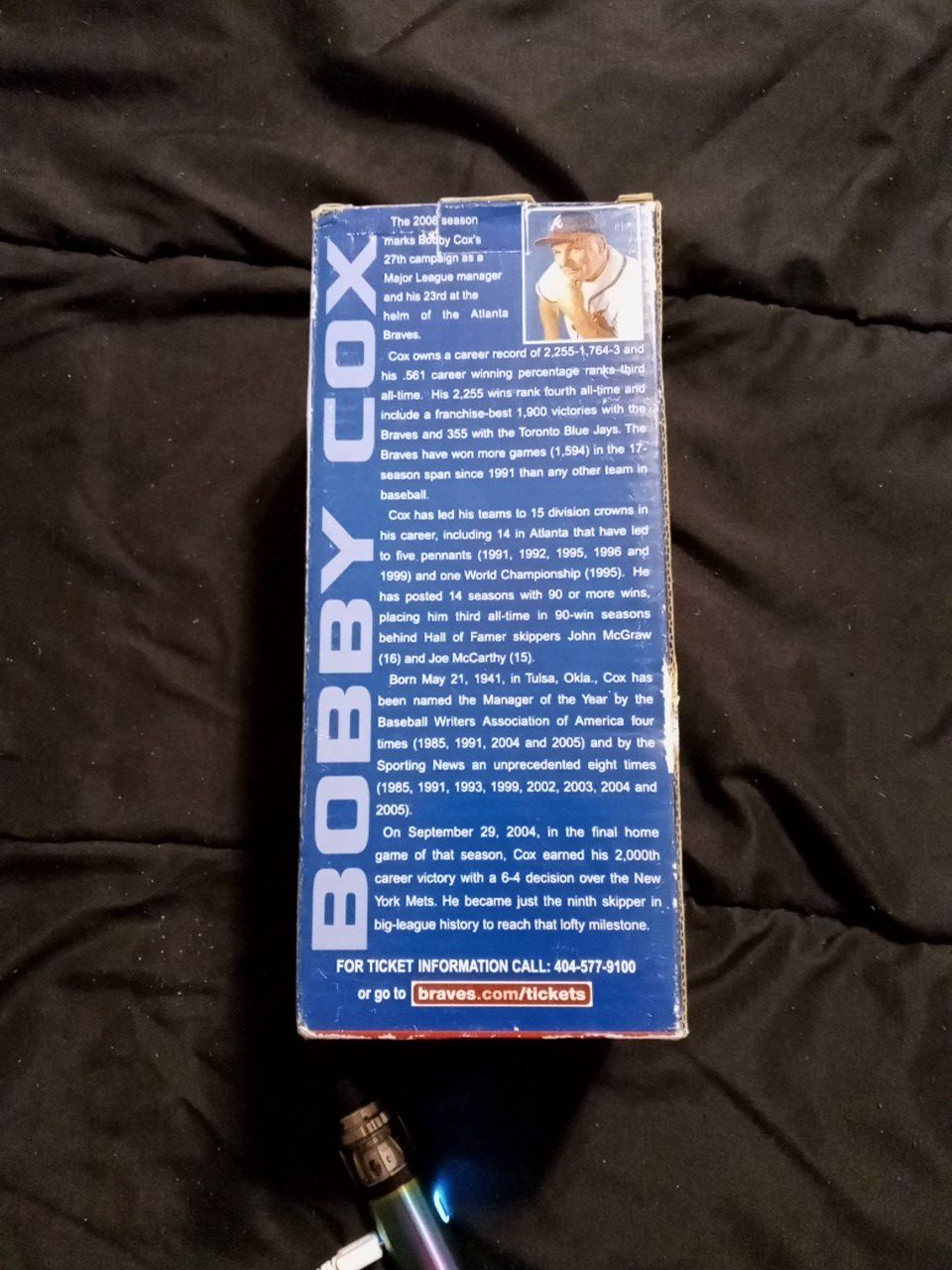 Atlanta Braves collector series 2008 Bobby Cox bobblehead
