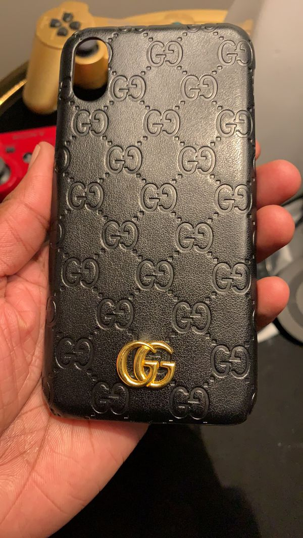 """new arrival b4f02 bb204 Black & Gold """"GUCCI"""" IPhone X Case for Sale in Columbus, OH - OfferUp"""