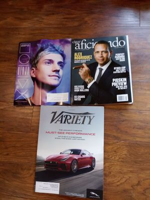 ESPN Magazine, Cigar Aficionado, and Variety Magaine...never read... for Sale in Madison Heights, VA