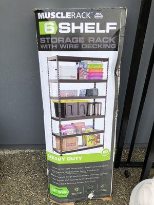 6 SHELF STORAGE RACK. Brand new. for Sale in Everett, WA