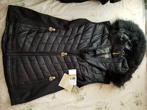Michael Kors Womens Black Faux Fur Sleeveless Jacket for Sale in Berwyn Heights, MD