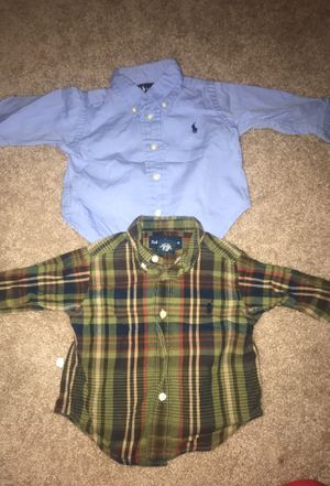 Ralph Lauren polo button ups size 9 months EUC for Sale in Alexandria, VA