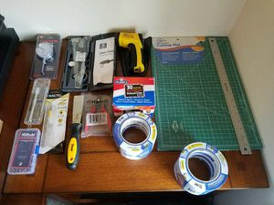 Assorted 3D Printer tools, heat monitor, gauges, cutting board, tape for Sale in Ashburn, VA