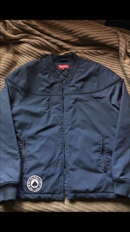 9e1a6b62f92b Supreme X Thrasher Poplin Crew Jacket for Sale in Ontario