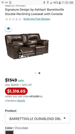 DOUBLE reclining Loveseat with console for Sale in Atlanta, GA