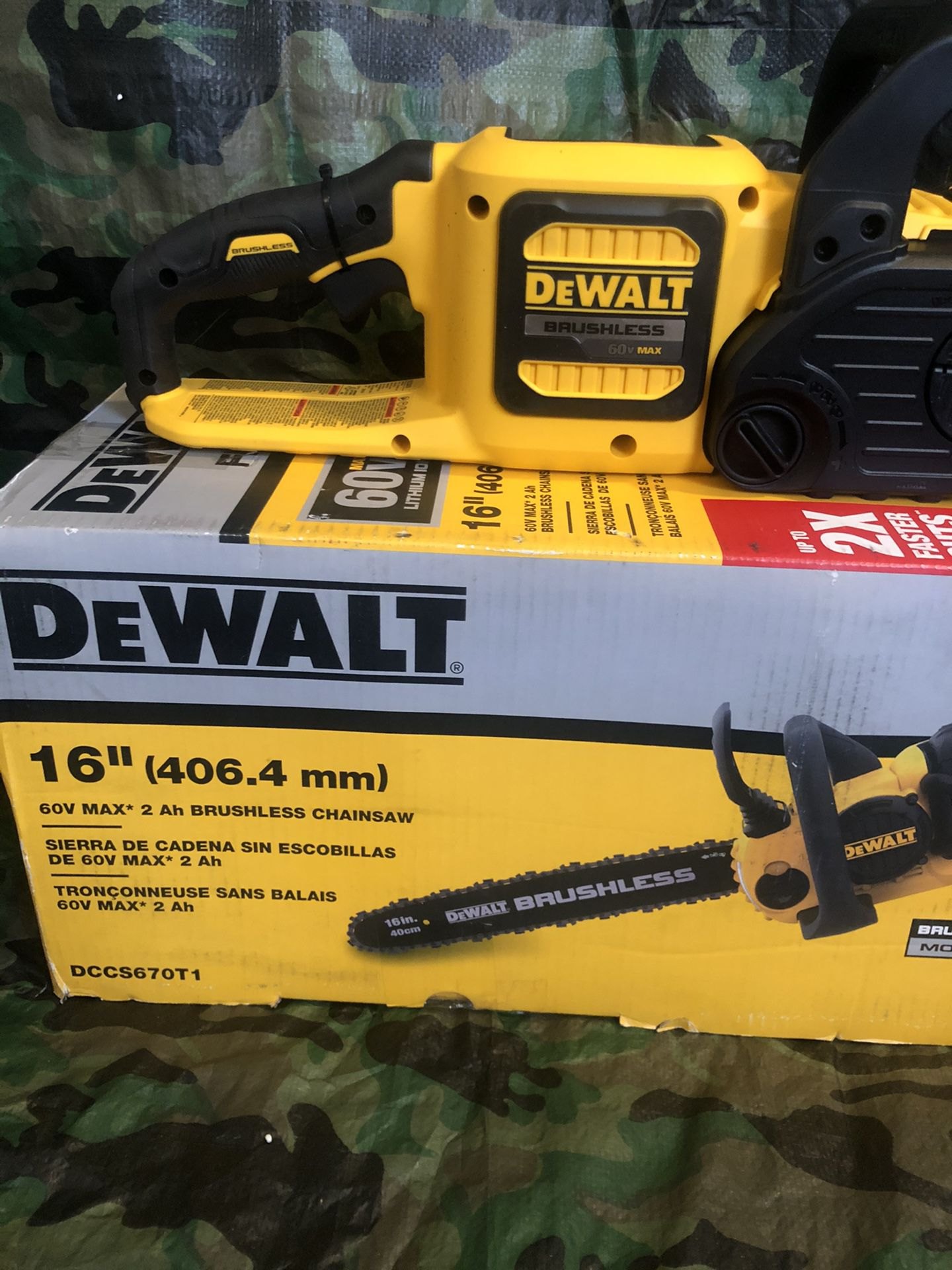 "Dewalt Chainsaw 16"" Flex Volt Brushless ""tool Only"""