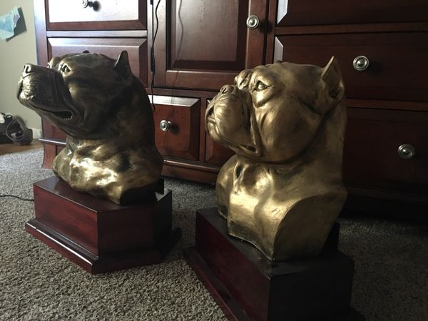 American bully and pitbull heads made with grass fiber for Sale in Castro  Valley, CA - OfferUp