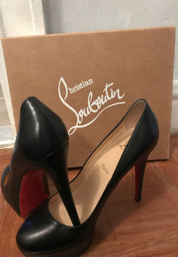 "34f6c879776 Christian Louboutin "" Bianca 120 "" leather pump shoes. Size 38.5 for ..."