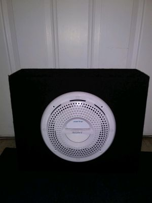 Photo 🌟 Brand New 🌟 10 SONY MARINE 800 Watts Subwoofer in a Carpeted Black Enclosed Speaker Box🌟MAKE AN OFFER🌟