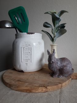 Giant White Ceramic Mason Jar Thumbnail