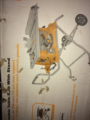"""10"""" heavy duty portable table saw with stand for Sale in Severn, MD"""