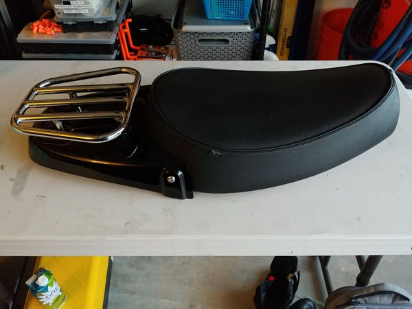 Triumph Bonneville Accessory Seat With Luggage Rack For Sale In