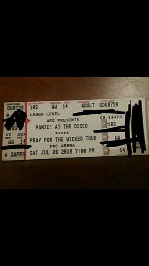 Panic At the Disco ticket for Sale in Chapel Hill, NC