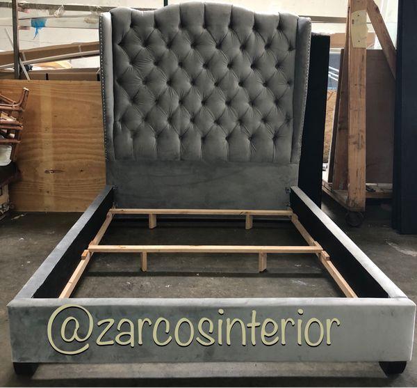 Custom Made Bed Frame Usa Alder Wood Furniture In Long Beach Ca