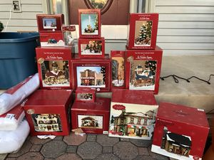 instant st nicolas square kohls christmas village with 15 houses for sale in